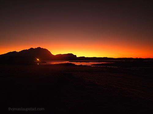 Bilde fra årets mørkeste dag i Nord Norge - 21. desember 2012